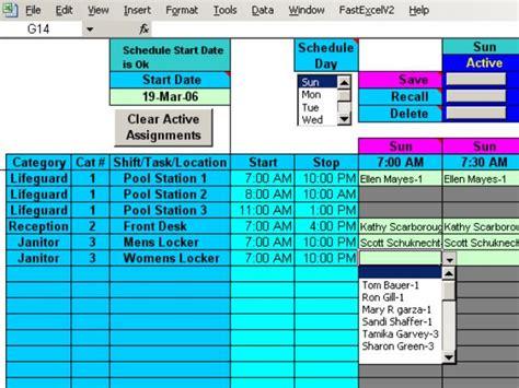 excel weekly schedule template interactive calendar