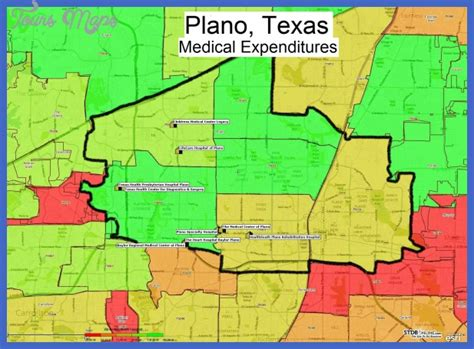 thematic map of texas plano map toursmaps