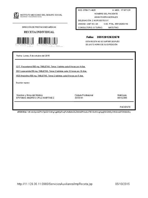 descargar receta medica del imss formato editable zonambuloz receta medica imss wood scribd mexico