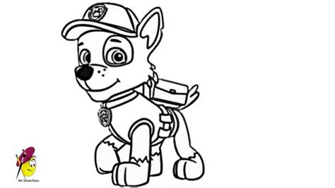 coloring pages paw patrol rocky paw patrol chase coloring page coloring home