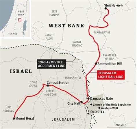 jerusalem light rail map jerusalem s light railway commuting with a rifle through