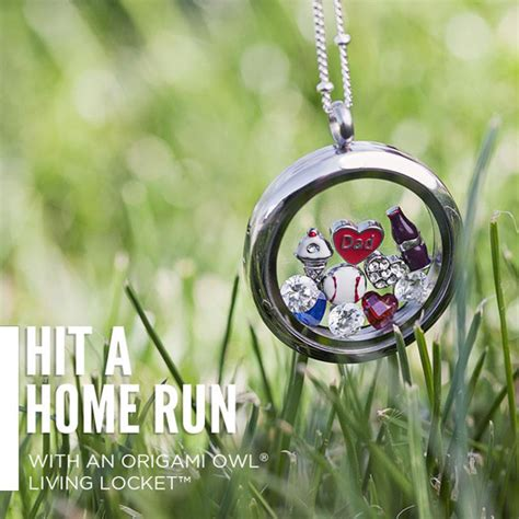 How To Put Charms In Origami Owl Locket - hit a home run baseball origami owl living locket