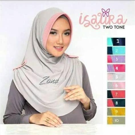Model Jilbab Instan Zoya Terbaru Model Terbaru 2017 Jilbab Instan Isaura Two Tone