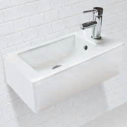 narrow rectangular bathroom sink decolav 1486r cwh wall mount or above counter