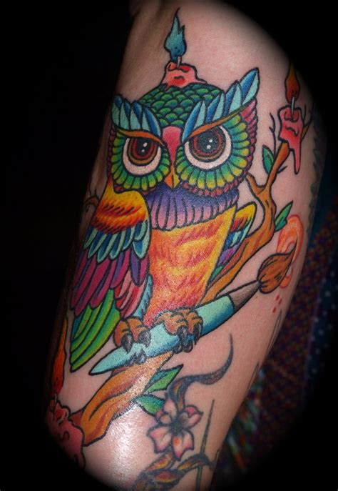 traditional owl tattoo designs anthony neo traditional owl by queenannesrevenge777 on