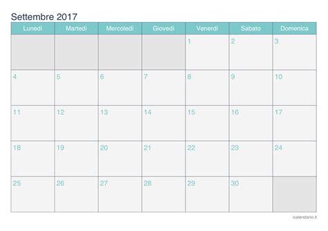Calendario Settembre 2017 Calendario Settembre 2017 Da Stare Icalendario It
