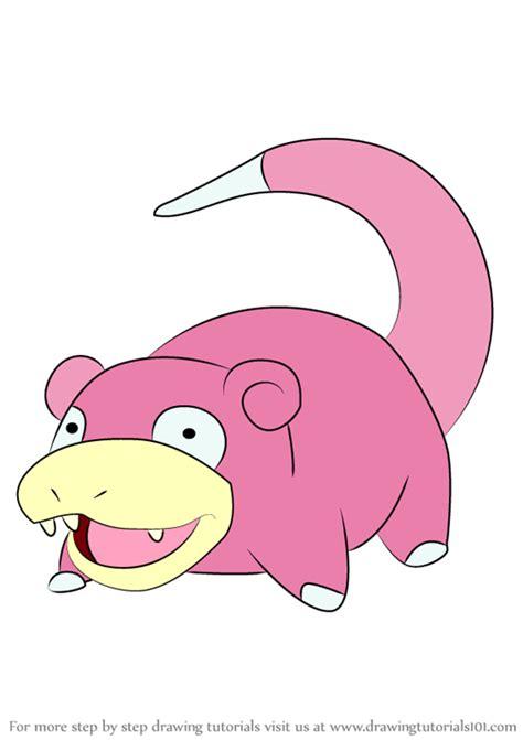 learn   draw slowpoke  pokemon pokemon step