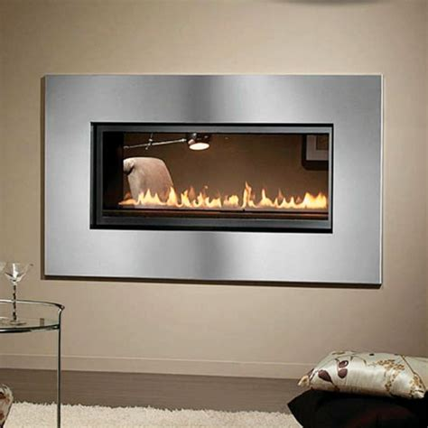 See Through Gas Fireplace Inserts by Montigo L Series See Through Direct Vent Fireplace