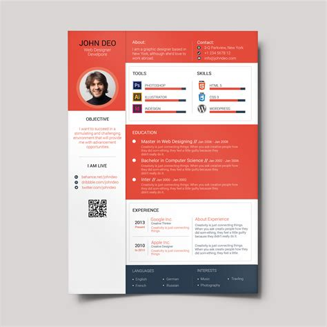 Best Resume Template Professional by Material Design Resume Creativecrunk