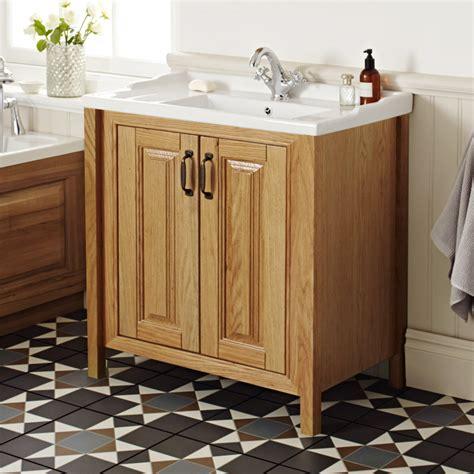 grenville american oak solid wood vanity unit