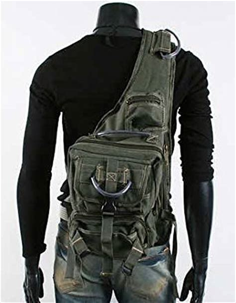Jaket Dusty Flash Babycanvas s rugged style single shoulder crossbody canvas backpack army green