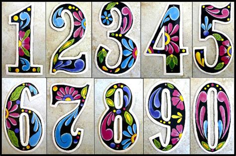 art and design address hand painted metal decorative house numbers steel