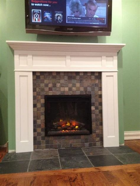 shaker fireplace mantel no to the tv for the home