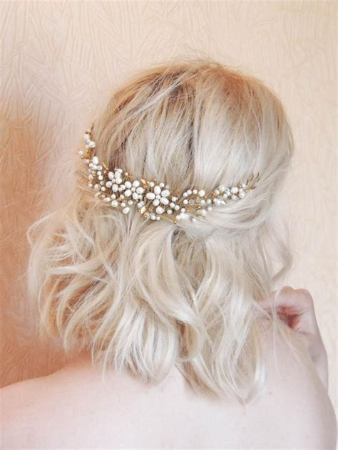 Wedding Hair Pieces Boho by Boho Bridal Back Headpiece Bridal Hair Bohemian