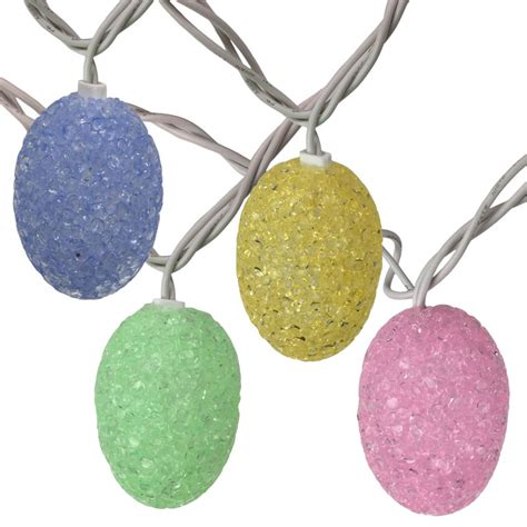 pastel colored easter egg string lights 10 lights