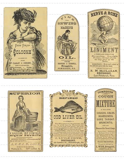 printable old labels antique apothecary labels digital download vintage pharmacy