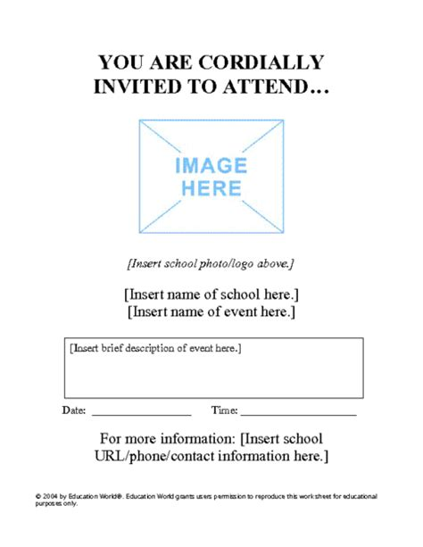 parent flyer templates special event flyer template education world