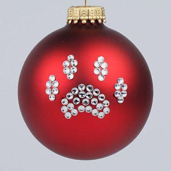 paw print ornament christmas pinterest ornament