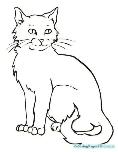 easy coloring pages of cats simple stained glass coloring page cat geometric