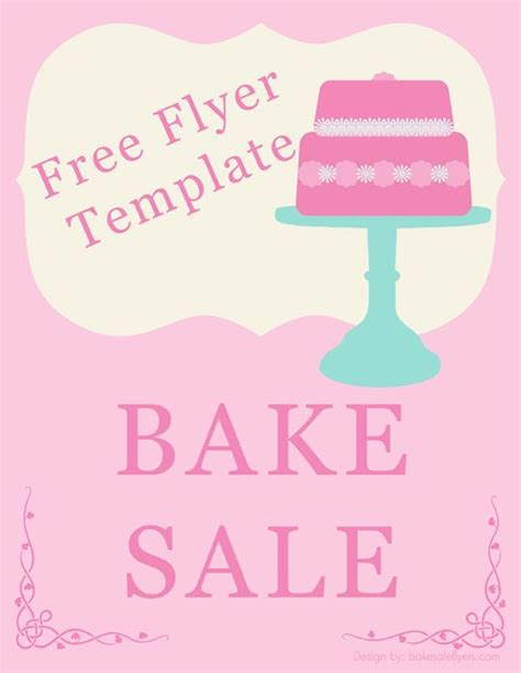bake sale flyer template holidays happy days