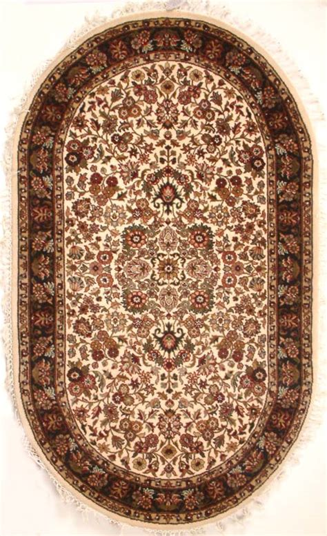 Karpet Oval oval blue and wool carpet