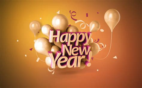 happy new year 3d balloons hd wallpaper stylishhdwallpapers