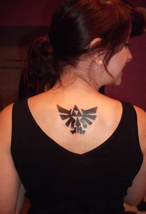 zelda tattoo back 45 zelda and triforce tattoos for nintendo devotees