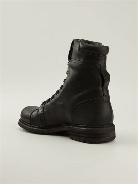 diesel boot diesel cassidy boots in black for lyst