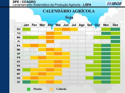 calendario agricola maya 2016 levantamento sistem 225 tico da produ 231 227 o agr 237 cola janeiro 2013
