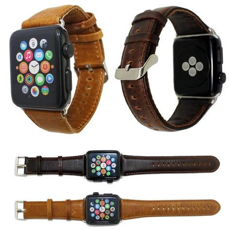 Apple Premium Leather Hoco 42mm Wristband Kulit Original premium leather band for apple 42mm 38mm 2 colors available anhem