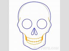 How To Draw A Sugar Skull – Pop Path Easy Tribal Animal Drawings
