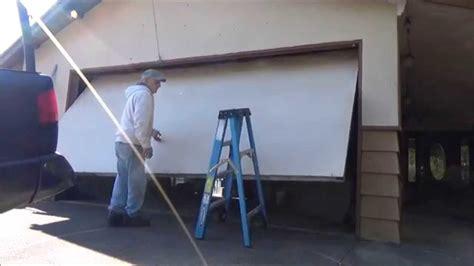 garage door pieces one garage door replaced by sectional door