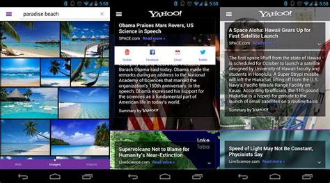 yahoo android app yahoo s android app gets updated brings a touch of summly to it