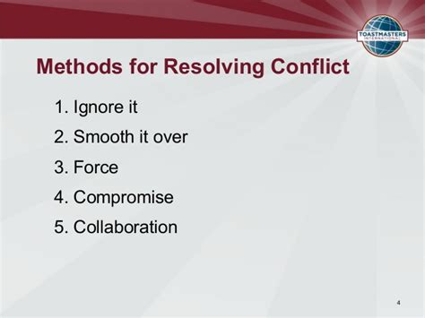 Ways To Resolve A Misunderstanding by Resolving Conflict Powerpoint