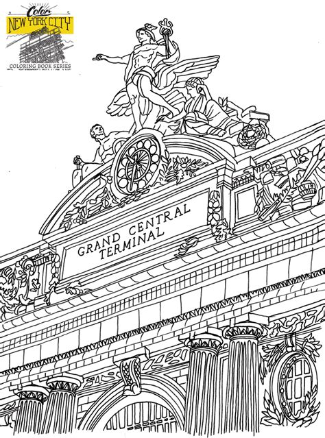 coloring book page of a city free nyc coloring pages new york city coloring book