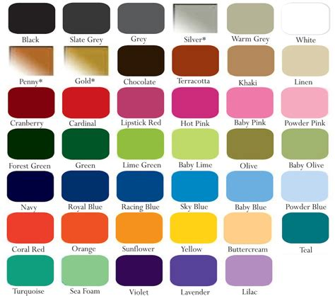 color chart wall decals color chart trendy wall designs