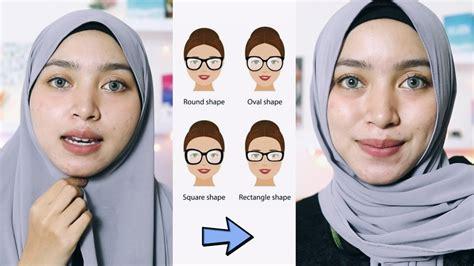tips  tutorial hijab berdasarkan bentuk wajah bulat