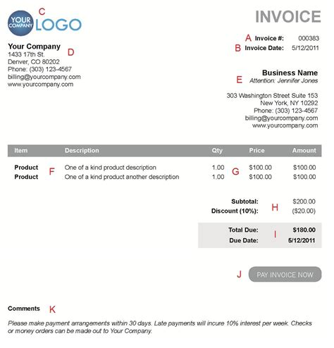 invoice terms and conditions sample terms on an invoice sample