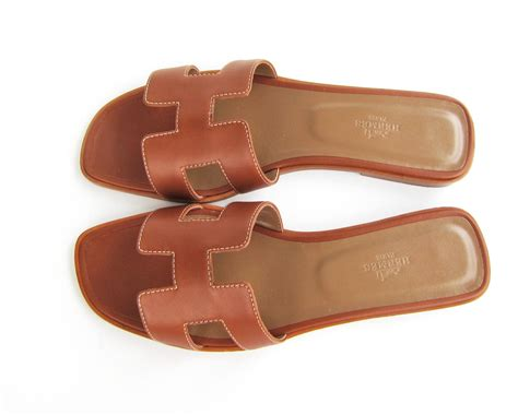 Authentic Hermes Oran Sandal Gold 37 hermes gold oran box leather sandals size 40 summer at 1stdibs