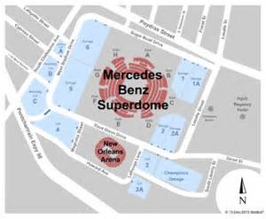 Mercedes Superdome Map Mercedes Superdome Tickets In New Orleans Louisiana