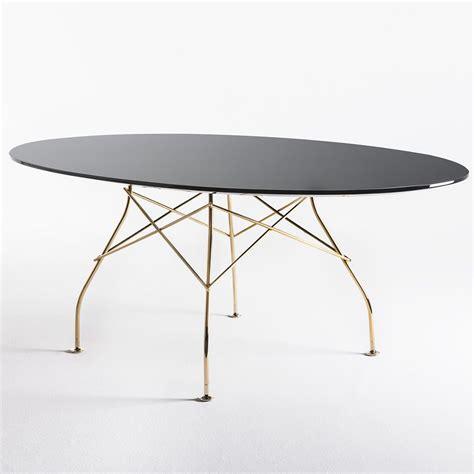 sgabelli kartel glossy tavolo kartell di design in metallo piano ovale
