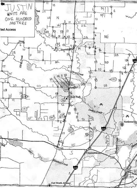 justin texas map 1997 justin texas