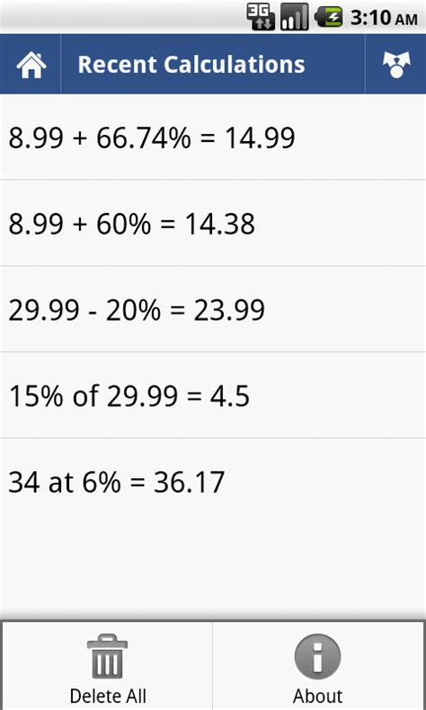 calculator percentage percent calculator android apps on google play