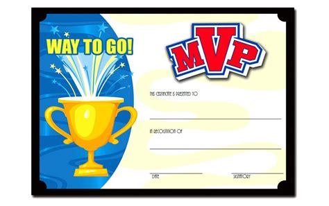 basketball mvp certificate template mvp certificate template 1 the best template collection