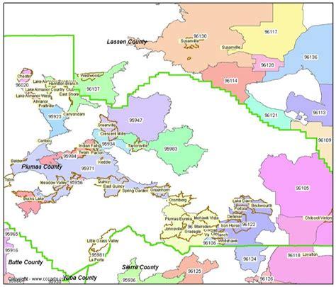 zip code map yuba county plumas county zip code map almanor ca zip codes
