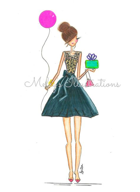 happy birthday fashion design birthday girl by melsys on etsy 20 00 fashion