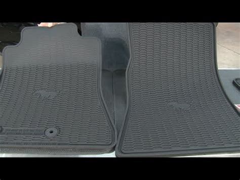 Ford Mustang Rubber Floor Mats by 2015 2017 Mustang Ford Black Rubber Floor Mat