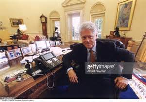 bill clinton oval office decor president bill clinton poses for portrait in the oval