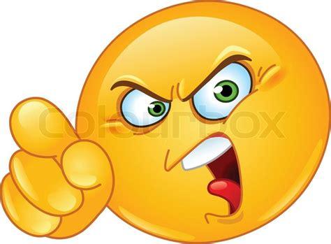 emoji yelling ver 228 rgerter emoticon zeigte anklagend mit dem finger