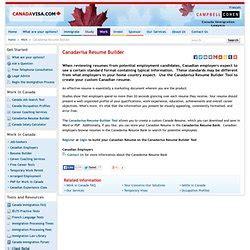 canadavisa resume builder my resume pearltrees